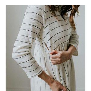 88a9b49cde1 Roolee Dresses - Roolee Sawyer Stripe MOM dress - nursing friendly